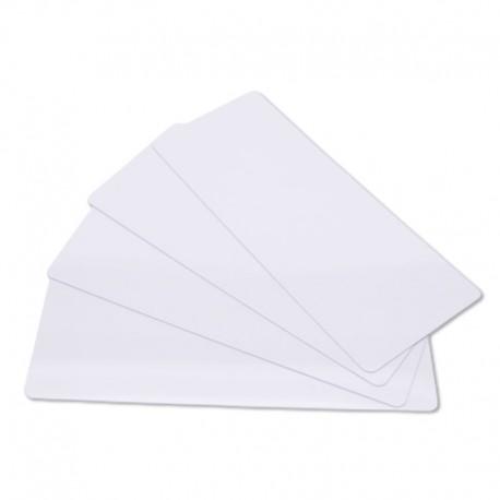 Lot de 100 cartes longues à imprimer PVC blanches - 120 x 50 mm