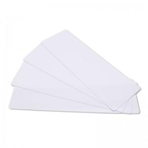 Lot de 100 cartes à imprimer PVC blanches - 150 x 50 mm