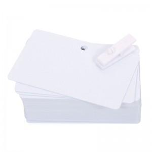 Packung mit 500 PVC-Karten, weiß, Perforation 5 mm