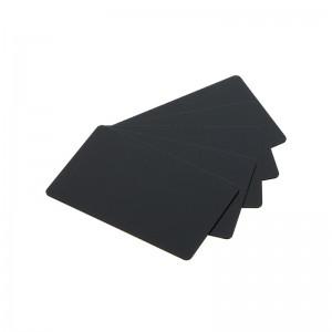 Packung mit 100 PVC-Druckkarten in Top-Qualität - Schwarz / Matt Finish