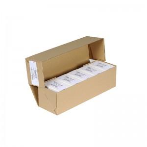 Packung mit 500 PVC-Druckkarten in Top-Qualität - Weiß / glänzendes Finish
