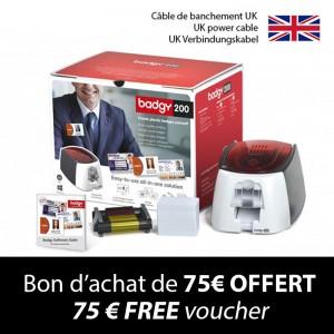 Kit imprimante à cartes BADGY 200+ - câble de branchement UK