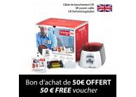Kit imprimante à cartes BADGY 100 - câble de branchement UK