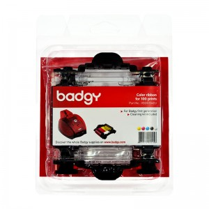 Kit Badgy 1 : color ribbon for 100 prints + cleaning kit