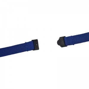15 mm ecological lanyard with safety feature and nickel free metal hook