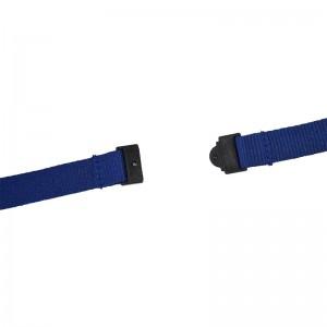 Ökologischer Sicherheits-Lanyard, 15 mm breit, mit Haken aus nickelfreiem Metall