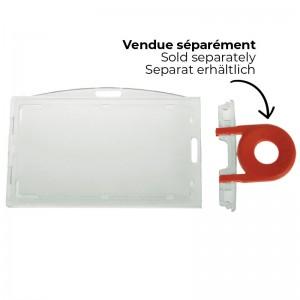 PB Lock : Secure badge holder for horizontal or vertical use