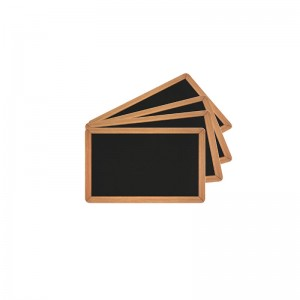 Pack of 100 PVC pre-printed slate effect cards - Glossy finish