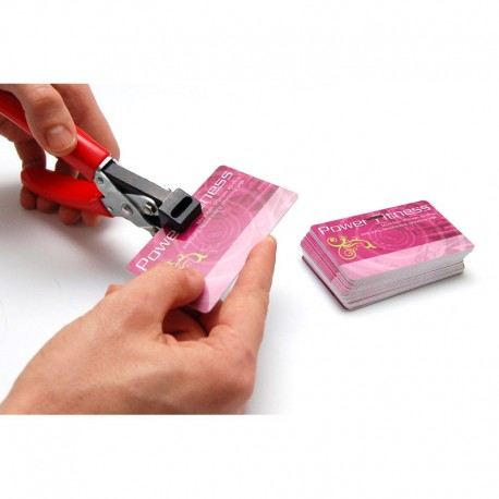 Hand-held oblong hole punch tool