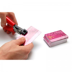 Hand-held round hole punch tool