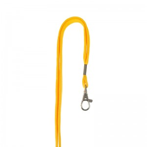 Tube polyester lanyard with nickel-plated dog hook, 12mm wide