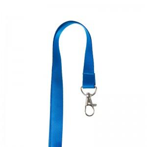 Flat Lanyard with metal dog hook