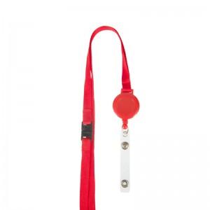 Schlüsselband Lanyard aus Satin mit Kunststoff-Jojo und Sicherheitsverschluss
