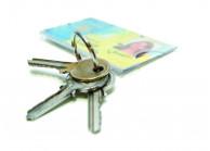 Querformat Kartenhalter mit Metall Schlüsselring - IDS72