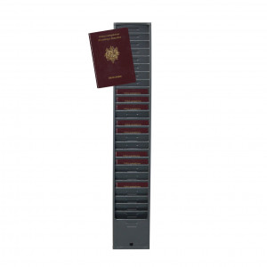Wall rack for 25 passports