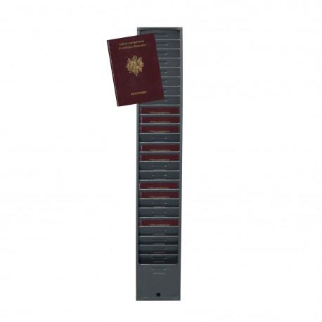 Casier mural pour 25 passeports