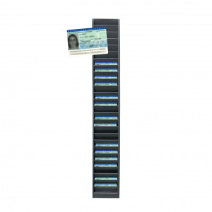 Wall rack for 25 identity cards