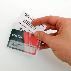 IDS38 : Porte-badge souple pour 2 cartes - Horizontal