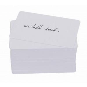 Gelochten PVC-Karten mit beschreibbarer Rückseite