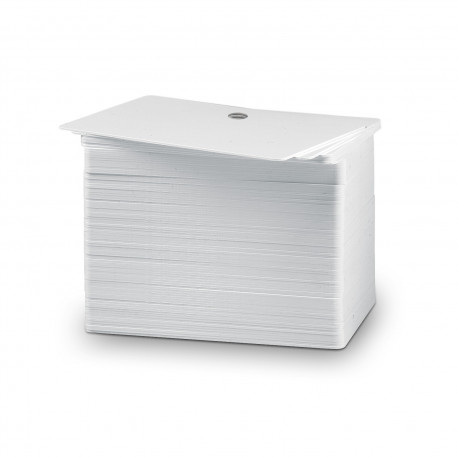 100 PVC white cards w/ 5mm round hole pack (thickness 0.50mm)