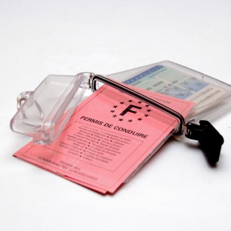 Ausweishalter Clearbox - wasserfeste Ausführung (Ring im Lieferumfang enthalten)