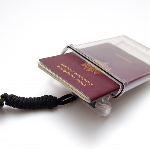 Clearbox passport holder - waterproof version with lanyard