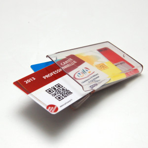Clearbox slim badge holder