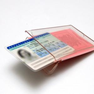 Porte pièces d'identité Clearbox - version non étanche