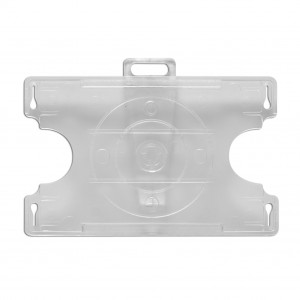 IDP67R : Open faced badge holder with swivel clip fastener for horizontal or vertical use