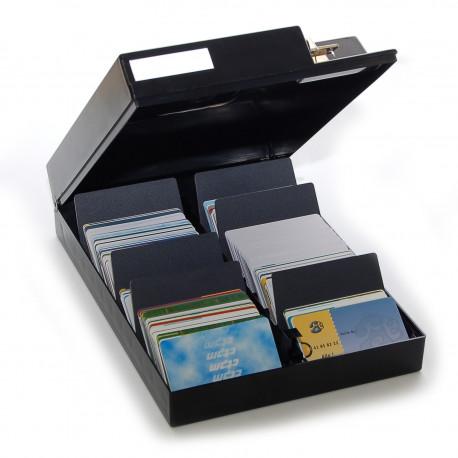 Metallbox mit Unterteilung für Karten