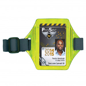 Reflective armband badge holder