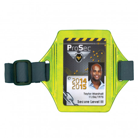 Reflective armband badge holder
