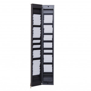 Safe wall rack for 50 cards with lock
