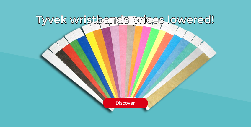 Tyvek wristbands prices lowered