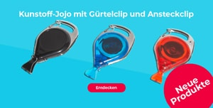 Kunstoff-Jojo mit Gürtelclip und Ansteckclip