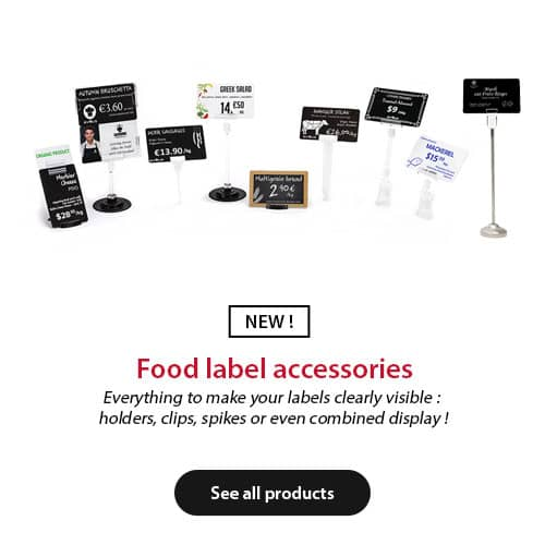 Food label accessories