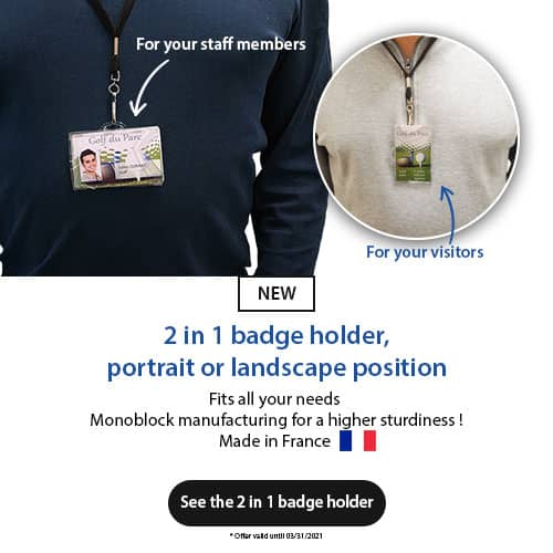 2 in 1 rigid badge holder - horizontal and vertical IDX